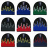 Decky Fire Flame Beanies Caps Hats Short Warm Winter Youth Boys Girls Kids Size