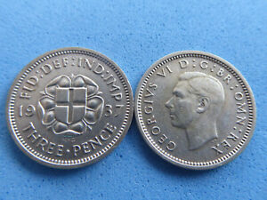 UK SILVER THREEPENCE 1937-1943 CHOOSE DATE FROM JUST £1.75 EACH UK POST PAID