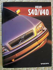 VOLVO OFFICIAL S40 V40 1.9T PRESTIGE SALES BROCHURE 2000 USA EDITION