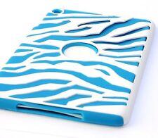 Apple iPad Mini - HARD & SOFT RUBBER HYBRID DUAL LAYER FUSION CASE COVER ZEBRA