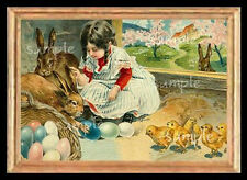 Vintage Easter Girl Miniature Dollhouse  Picture