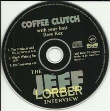 DAVE KOZ Hosts JEFF LORBER INTERVIEW radio PROMO DJ CD Coffee Clutch 1993