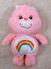 Vintage Care Bears Pink Rainbow Cheer Bear 8 1/2 Inch Pink Preowned Clean Cute