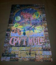 gov't mule warren haynes signed 3D tour poster 2008 w/coa