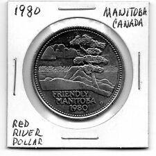 1980 Manitoba Canada Trade Dollar