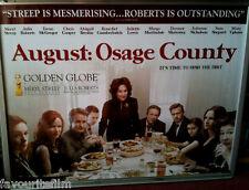 Cinema Poster: AUGUST OSAGE COUNTY 2014 (Quad) Meryl Streep Julia Roberts