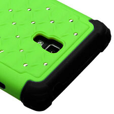 LG Optimus L9 P769 HYBRID IMPACT Dazzling Diamond Case Phone Cover Green Black