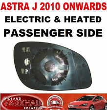 VAUXHALL ASTRA J MK6 ELECTRIC HEATED WING MIRROR GLASS PASSENGER NEAR LEFT SIDE