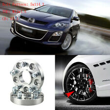 """4pcs 1"""" Wheel Spacers Adapters 5 Lug 5x4.5""""/5x114.3-12x1.5 Studs For Mazda CX-7"""