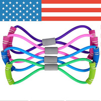 Resistance Elastic Workout Rubber Bands Tube Workout Exercise Band For Yoga
