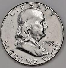 1953 Franklin Half.  A.U.  108613