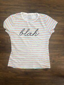BNWT Ladies T Shirt Top Lemon//white Size 18-20