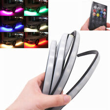 "4pcs Wireless Remote RGB Auto Car LED Strip Lamp Ambient Underbody Light 47""+35"""