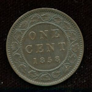 1858 Large One Cent Canada's First Penny