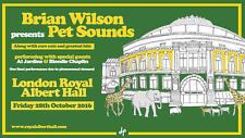 "Brian Wilson ""Pet Sounds 50th Anniv. 2016 London Concert Poster v.2 - Beach Boys"