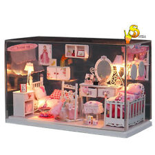 DIY DollHouse Model Kit Romantic Dream Princess Home with LED light