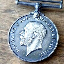 Antique Great Britain Wwi 1914 1918 British War Silver Medal Georgivs V Brit Vtg