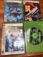 xbox 360 game lot Assassins Creed Call Duty Perfect Dark Zero Golden Compass