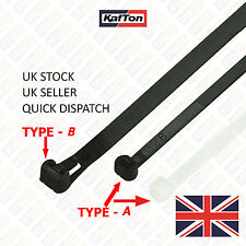 All Size Releasable/Reusable Cable Ties Black Natural Nylon Plastic Zip Tie Wrap