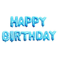 """16"""" Letters Happy Birthday Foil Balloons Baby Shower Giant Banner Party Xmas"""
