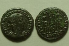 Constantine 324AD genuine Ancient Roman coin Legionary soldiers spears standards
