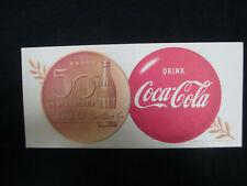 Coca-Cola 1952 Ink Blotter 50th Anniversary The Coca-Cola Bottling Company