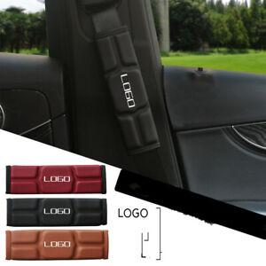Car Microfiber leather Insurance Interior Shoulder Pad Seat Belt AMG ABT TRD GMC