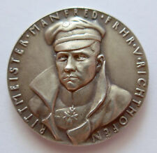Original Medaille K. Goetz 1928 --Freiher v.Richthofen- 89 statt 80 Abschüsse