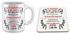 My Girlfriend My Love I Promise To Always Be There For You Gift Mug And Coaster