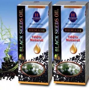 2 Hemani Black Seed/Cumin/Nigella Sativa Oil 100% Pure Natural Kolanji Oil 125ml