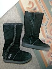 ANIMAL 'PERU 2' Black Suede Fleece Lined Zip-Up YETI BOOTS~UK 4
