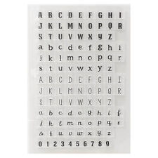 Silicon Transparent English Letters Stamp Seal DIY Scrapbooking Photo Alb Pro AU