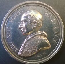 Silver medal Paus Pope Leo XIII 1888 (Bianchi) dubbelslag double strike