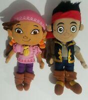 "Disney Store Plush Jake and the Neverland Pirates Izzy Stuffed Dolls 13"""