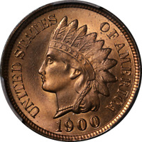 1900 Indian Cent PCGS MS67RD Superb Eye Appeal Fantastic Luster Strong Strike