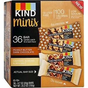 1 box/36 ct. Kind Minis Variety Pack 0.7ozx36pcs  DARK CHOCOLATE/ CARAMEL ALMOND