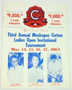 1964 Muskogee Civitan Ladies Open Golf Tournament Program Mickey Wright Pepsi Ad
