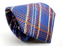 Gallieni Silk Tie Blue Multi Color Stripe Classic Necktie 59 x 3.75 New