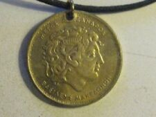 AUTHENTIC  GREECE GREEK  ALEXANDER THE GREAT COIN  PENDANT CHARM  NECKLACE
