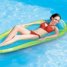 Swimways Spring Float Lime/Aqua Swiming Pool Lilo Summer Beach Holiday Lounger