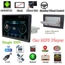 "1 DIN Car MP5 Player Bluetooth GPS Navs 9"" Touch Screen Multimedia Stereo Radio"