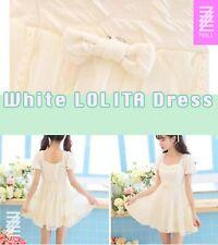 Kawaii Cute Quality White Lace Dress Lolita Japanese