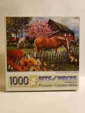 Bits and Pieces 1000 Piece Puzzle Chatting with the Neighbors Horse Barn Game