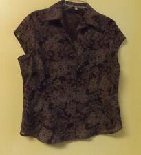 APOSTROPHE Ladies Brown Shirt (Blouse) / Size Petite X-Large / NWT