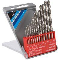 Bluespot 13 Pc HSS Twist Drill Bits 1.5mm To 6.5mm Set Metal Wood Plastic