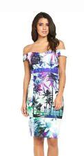 BNWT Lipsy Palm Rib Bardot Dress uk 6 sale!!! rrp £69.99