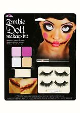 Zombie Doll Makeup Kit Make-up Face Paint Halloween Fancy Dress Eye Lashes