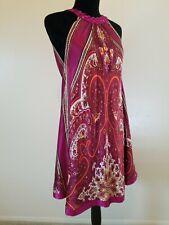 Arden B 100% Silk Purple & Pink Floral Lined Sleeveless Mini Dress Size - M