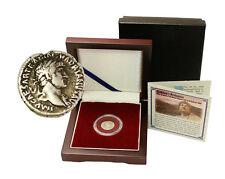 Britannia Box:Silver Denarius of the Roman Emperor who Built Hadrian's Wall