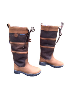 Ladies Full Grain Leather Boots Women's Equestrian Country Footwear Shoes UK 5